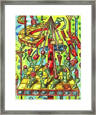 Science Of Chess Framed Print by Justin Jenkins