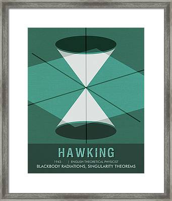 Science Poster - Stephen Hawking - Theoretical Physicist Framed Print