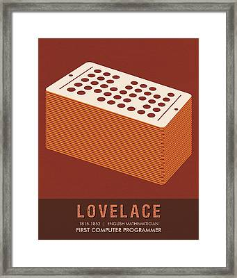 Science Posters - Ada Lovelace - Mathematician Framed Print