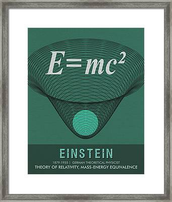 Science Posters - Albert Einstein - Theoretical Physicist Framed Print