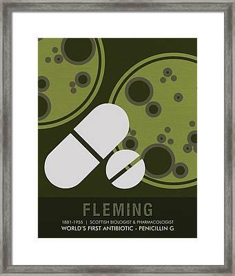 Science Posters - Alexander Fleming - Biologist, Pharmacologist Framed Print