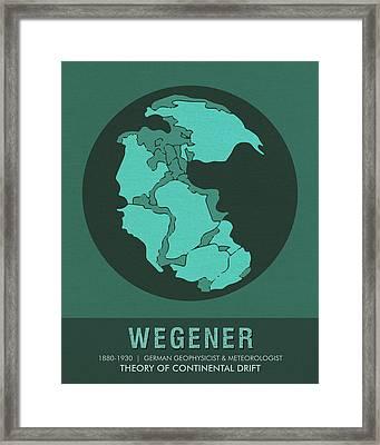 Science Posters - Alfred Wegener - Geophysicist, Meteorologist Framed Print