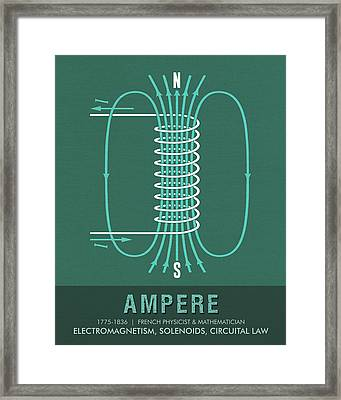 Science Posters - Andre Marie Ampere - Physicist, Mathematician Framed Print