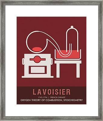 Science Posters - Antoine Lavoisier - Chemist Framed Print