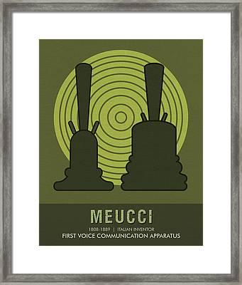 Science Posters - Antonio Meucci - Inventor Framed Print