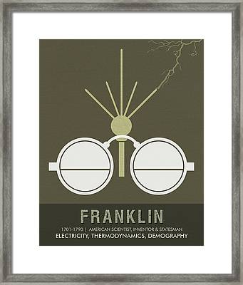 Science Posters - Benjamin Franklin - Scientist, Inventor, Statesman Framed Print
