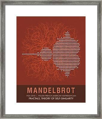 Science Posters - Benoit Mandelbrot - Mathematician Framed Print