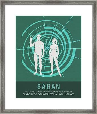 Science Posters - Carl Sagan - Astronomer, Astrophysicist Framed Print