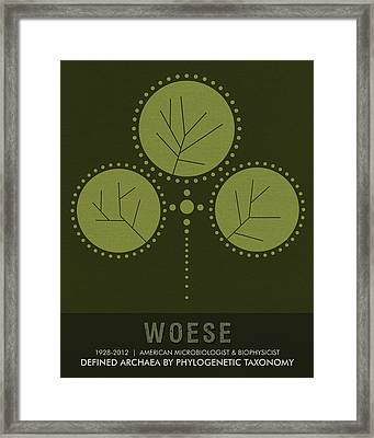 Science Posters - Carl Woese - Microbiologist, Biophysicist Framed Print