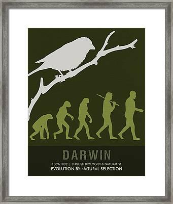 Science Posters - Charles Darwin - Biologist, Naturalist Framed Print