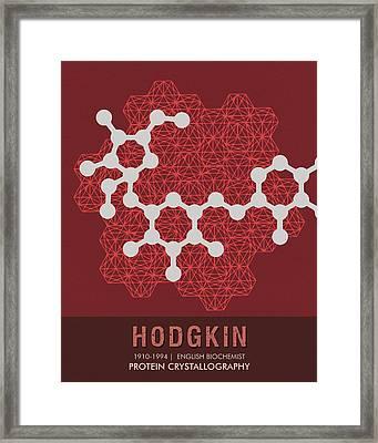 Science Posters - Dorothy Hodgkin - Biochemist Framed Print