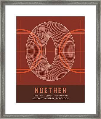Science Posters - Emmy Noether - Mathematician Framed Print