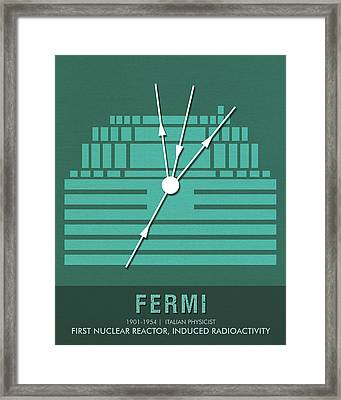 Science Posters - Enrico Fermi - Physicist Framed Print
