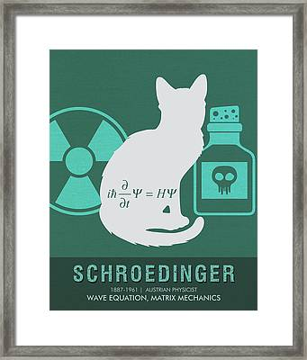 Science Posters - Erwin Schroedinger - Physicist Framed Print