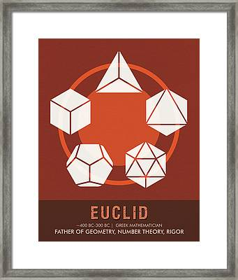 Science Posters - Euclid - Mathematician Framed Print