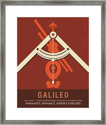 Science Posters - Galileo Galilei - Astronomer, Physicist, Mathematician Framed Print
