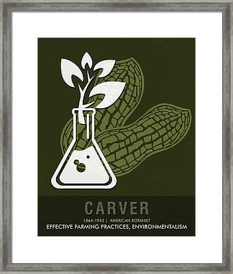 Science Posters - George Washington Carver - Botanist Framed Print