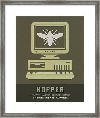 Science Posters - Grace Hopper - Computer Scientist Framed Print