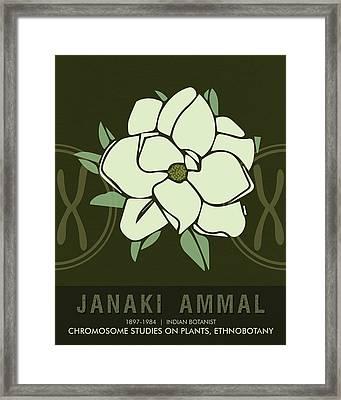 Science Posters - Janaki Ammal - Botanist Framed Print