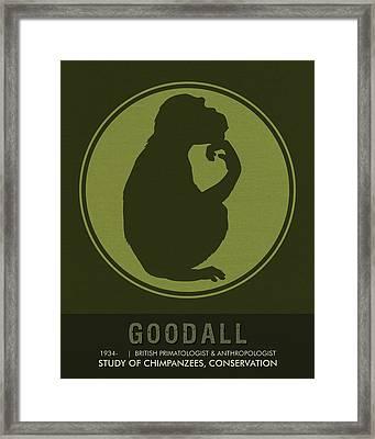 Science Posters - Jane Goodall - Anthropologist, Primatologist Framed Print