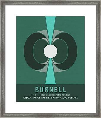 Science Posters - Jocelyn Bell Burnell - Irish Astrophysicist Framed Print