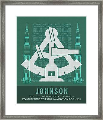Science Posters - Katherine Johnson - Mathematician, Physicist Framed Print