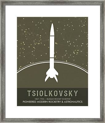 Science Posters - Konstantin Tsiolkovsky - Rocket Scientist Framed Print