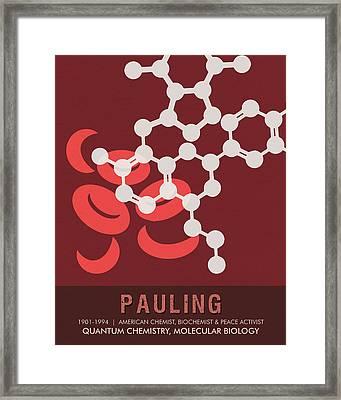 Science Posters - Linus Pauling - Chemist, Biochemist, Peace Activist Framed Print