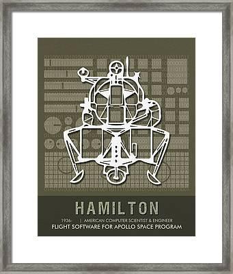 Science Posters - Margaret Hamilton, Computer Scientist, Engineer Framed Print