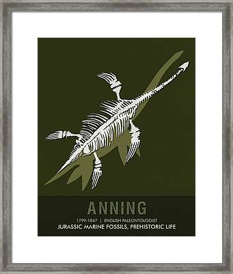 Science Posters - Mary Anning - Paleontologist Framed Print