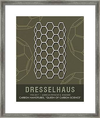 Science Posters - Mildred Dresselhaus - Physicist, Engineer Framed Print