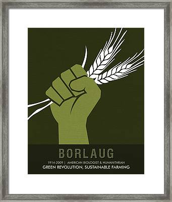 Science Posters - Norman Borlaug - Biologist, Agronomist Framed Print