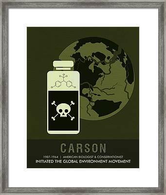 Science Posters - Rachel Carson - Biologist, Conservationist Framed Print