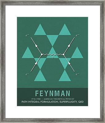 Science Posters - Richard Feynman - Theoretical Physicist Framed Print