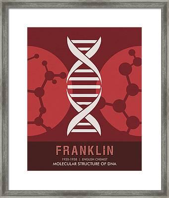 Science Posters - Rosalind Franklin - Chemist Framed Print