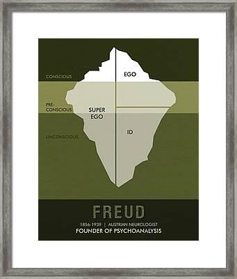 Science Posters - Sigmund Freud - Neurologist, Psychoanalyst Framed Print