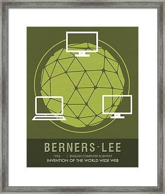 Science Posters - Tim Berners-lee - Computer Scientist Framed Print