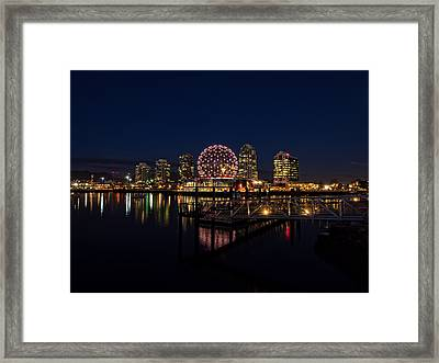 Science World Nocturnal Framed Print