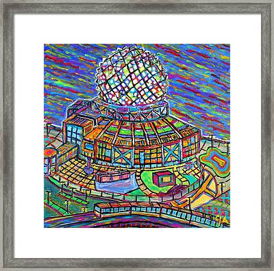 Science World, Vancouver, Alive In Color Framed Print by Jeremy Aiyadurai