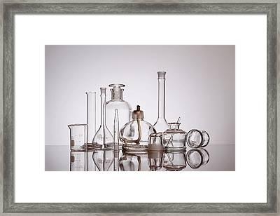 Scientific Glassware Framed Print by Tom Mc Nemar