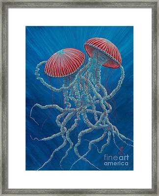 Scifi Jellies Framed Print
