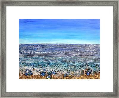 Scintillated Seascape Framed Print by Regina Valluzzi