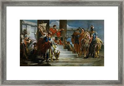 Scipio Africanus Freeing Massiva Framed Print by Giovanni Battista Tiepolo