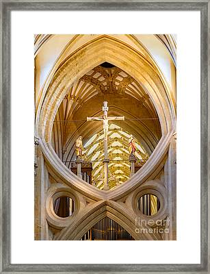 Scissor Arches, Wells Cathedral Framed Print by Colin Rayner