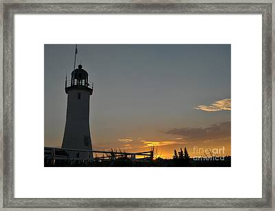 Scituate Light Framed Print by Catherine Reusch Daley