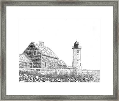Scituate Lighthouse Framed Print by Tim Murray