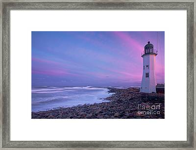Scituate Sunset  Framed Print