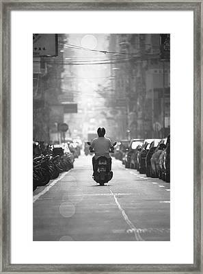 Scooter Framed Print by Kam Chuen Dung
