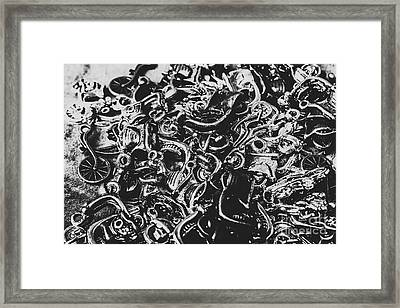 Scooter Mechanics Abstract Framed Print
