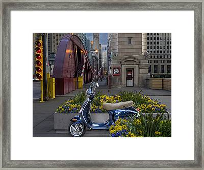Scooting Around Chicago Framed Print by Robert Kruzic